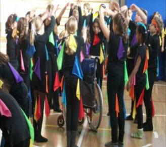 danza inclusiva di gruppo